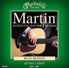 Martin M170 3 PACK Bronze Acoustic Guitar Strings Extra Light 10 - 47